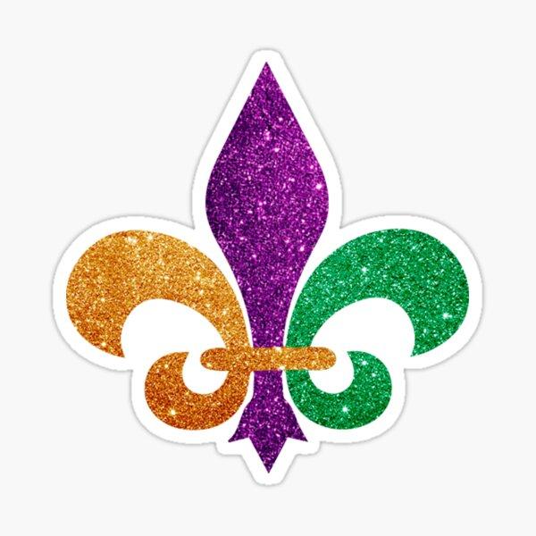 Mardi Gras 2020 - Fleur De Lis Mardi Gras Sticker
