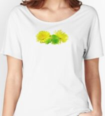 Yellow and Green Mums Women's Relaxed Fit T-Shirt