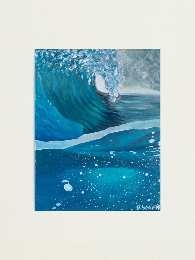 Alternate view of Wave Back Photographic Print