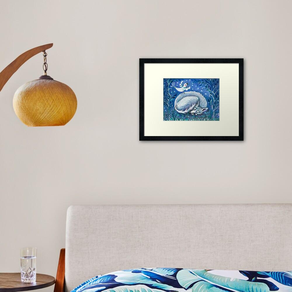 Sing While I Sleep Framed Art Print
