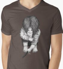 Alone... B/W Men's V-Neck T-Shirt
