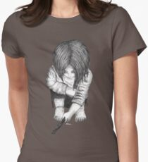 Alone... B/W Women's Fitted T-Shirt