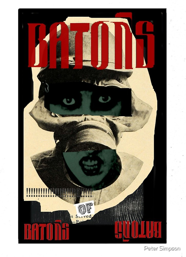 Dada Tarot- 4 of Batons by Peter Simpson