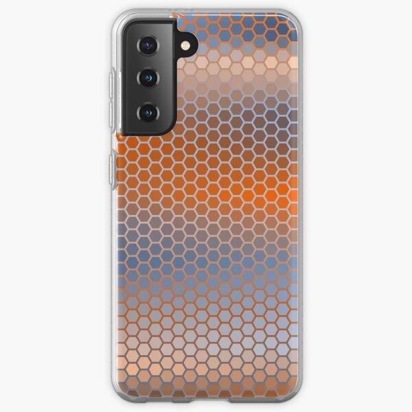 Blue Orange Brown Hexagon Pattern Samsung Galaxy Soft Case