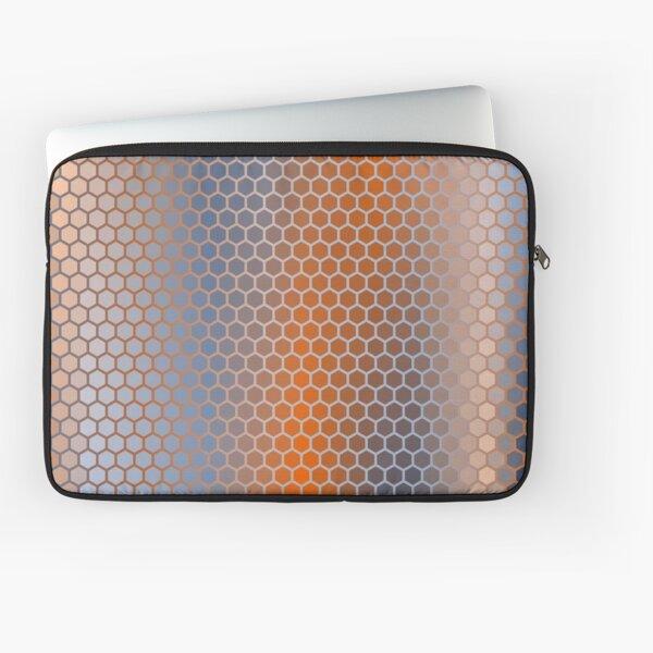 Blue Orange Brown Hexagon Pattern Laptop Sleeve