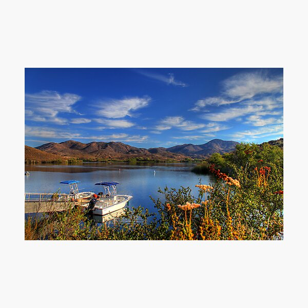 Lake Skinner Boating Photographic Print