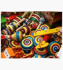 Mexican Wooden Toys Poster