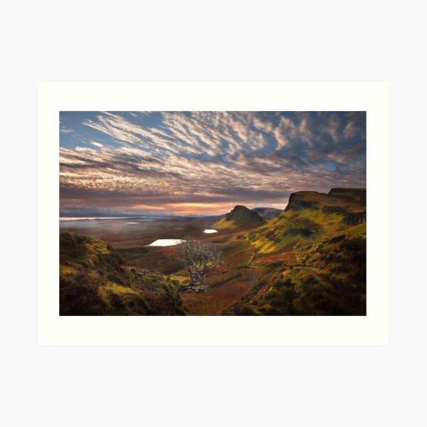 Quiraing at Sunrise Trotternish Isle of Skye. Scotland. Art Print