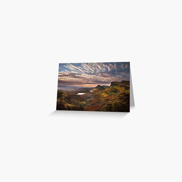Quiraing at Sunrise Trotternish Isle of Skye. Scotland. Greeting Card