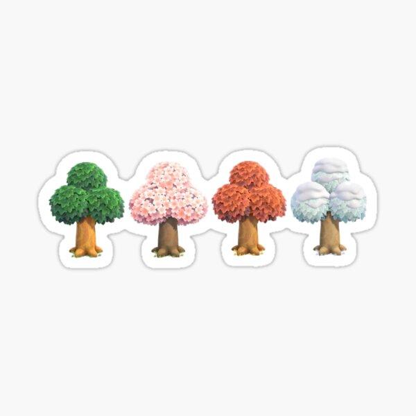 animal traversant de nouveaux horizons arbres Sticker