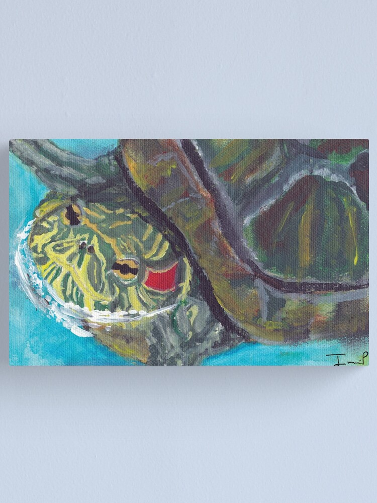 Alternate view of Red Eared Slider Canvas Print