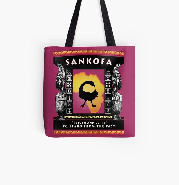 Nguzo Saba SANKOFA All Over Print Tote Bag