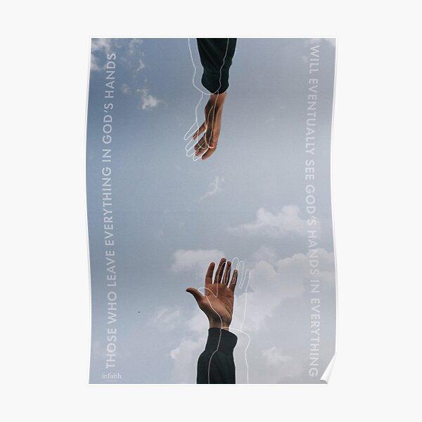 In God's Hands – Christian Design Poster