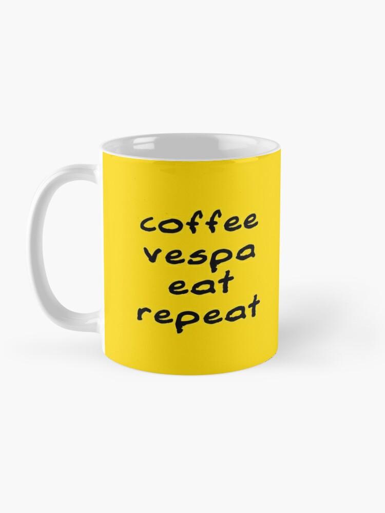 Alternate view of Coffee Vespa Eat Repeat Mug