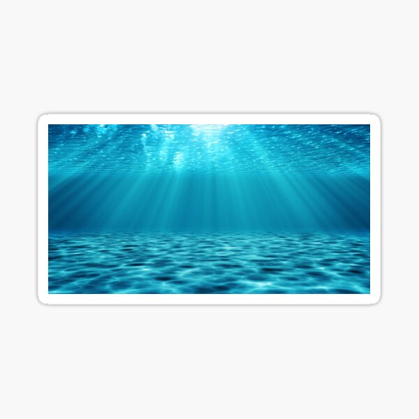 Turquoise ocean underwater scene illustration Sticker