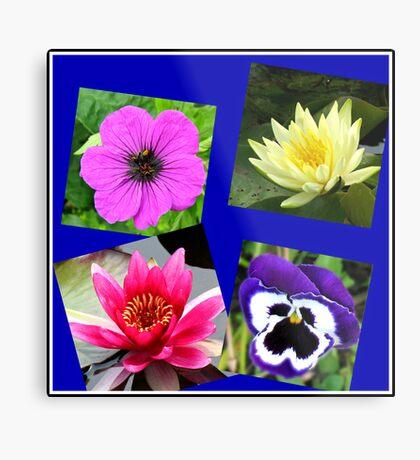 Essex Flowers Collage Metallbild