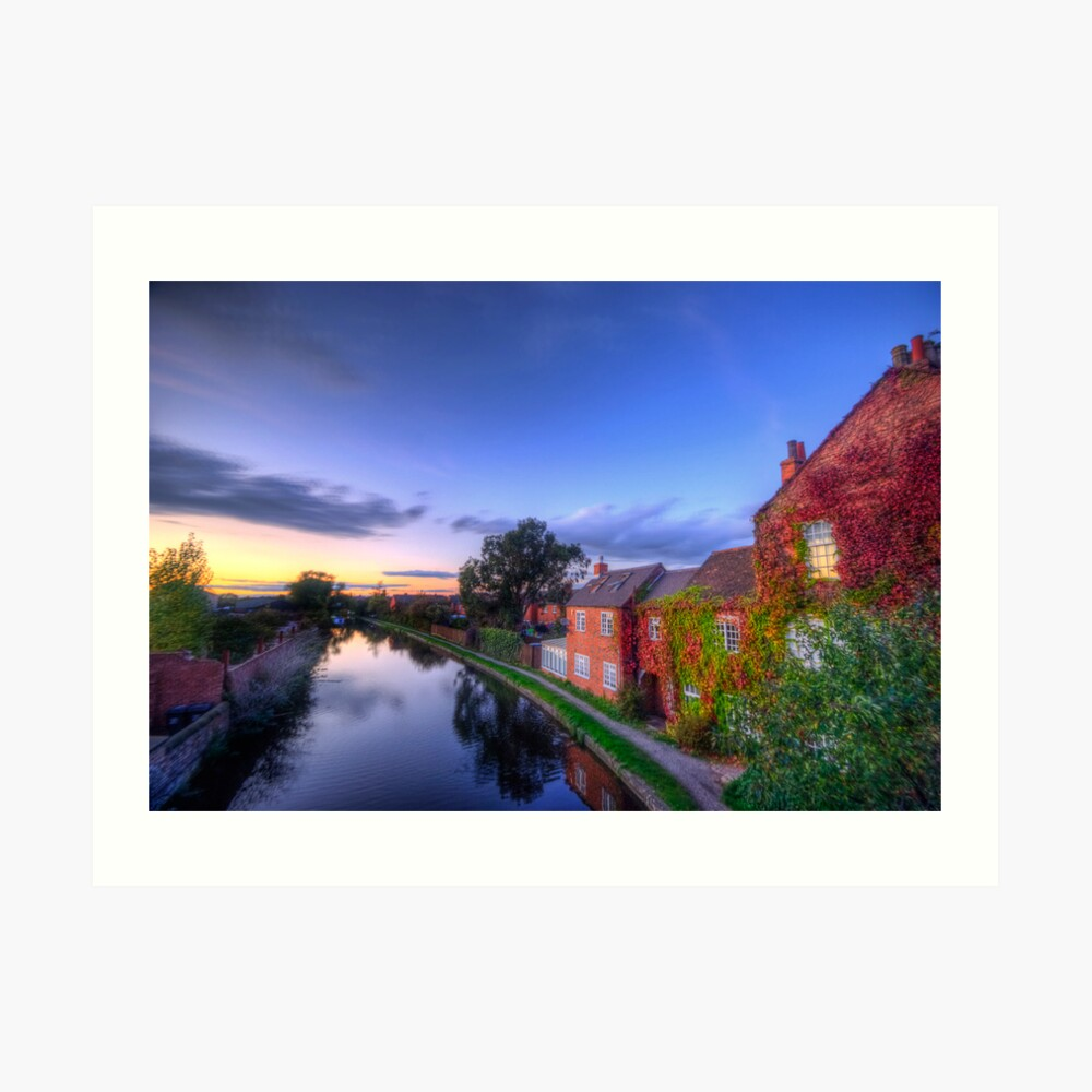 Loughborough Canal Sunset  Art Print