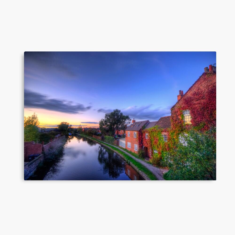 Loughborough Canal Sunset  Canvas Print