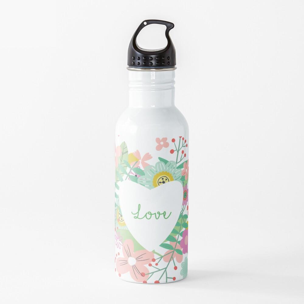 Love flowers Water Bottle