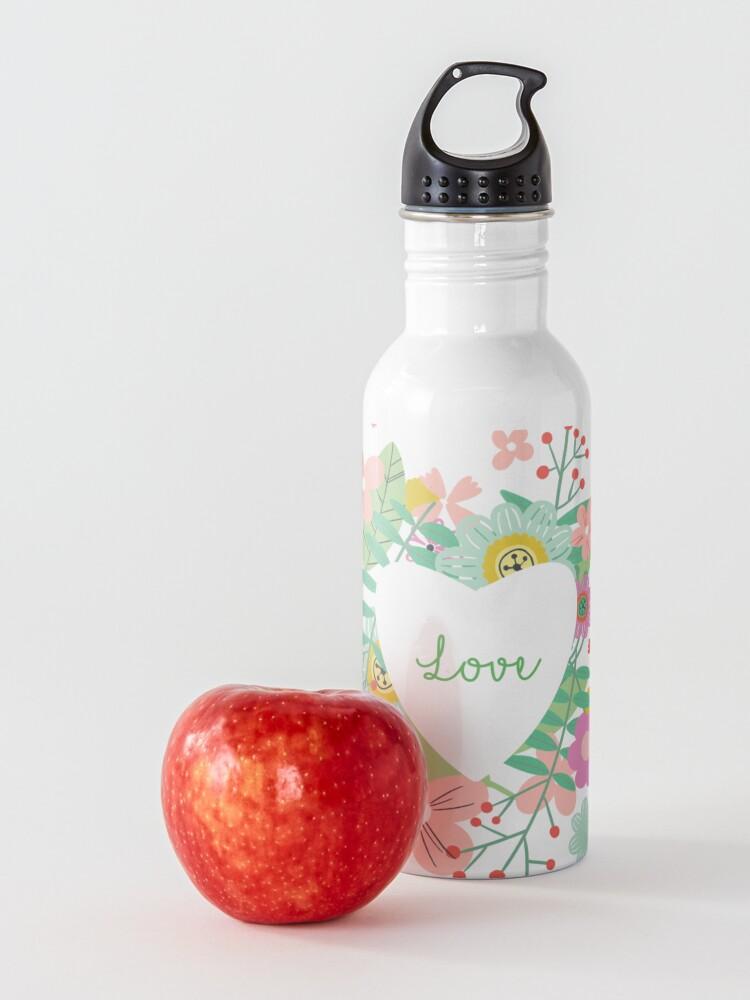Alternate view of Love flowers Water Bottle