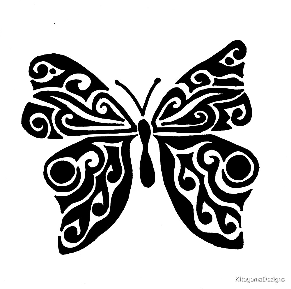 Butterfly Tribal Design  by KitayamaDesigns