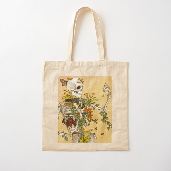 Bones and Botany Cotton Tote Bag
