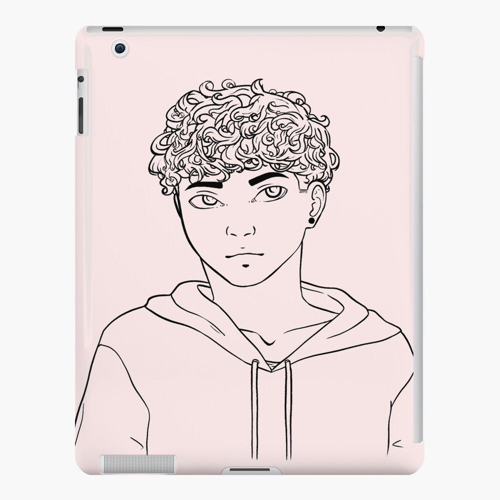 Cute Curly Haired Guy Ipad Case Skin By Grant0s Redbubble