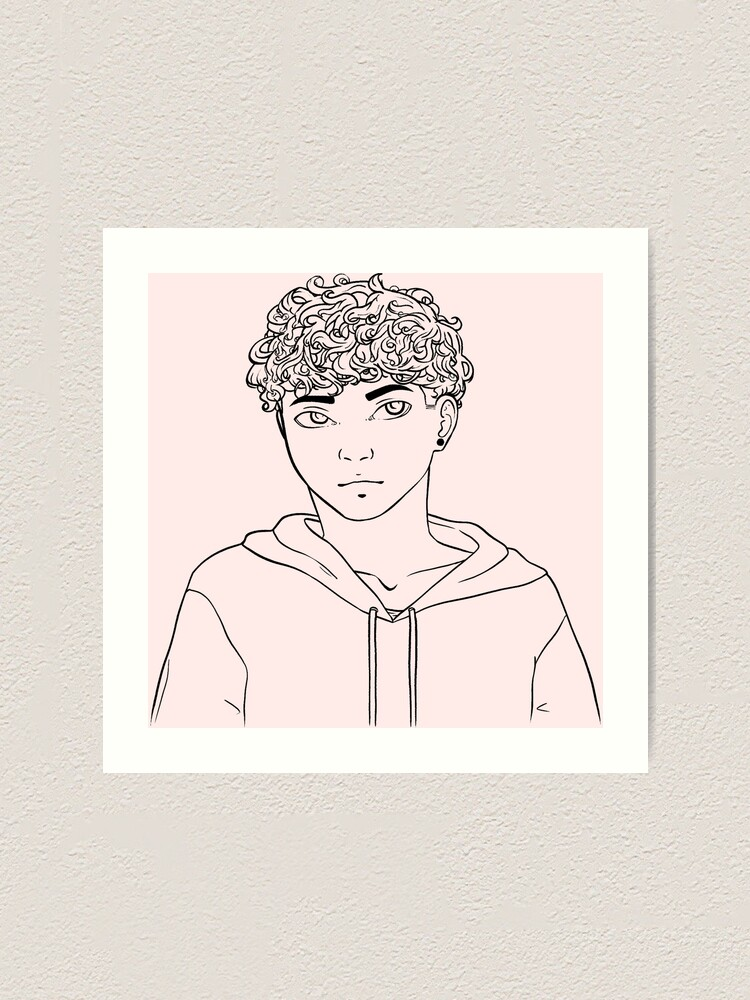 Cute Curly Haired Guy Art Print By Grant0s Redbubble