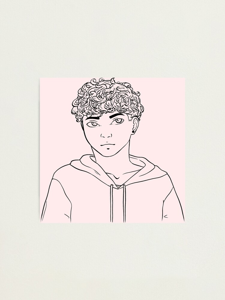 Cute Curly Haired Guy Photographic Print By Grant0s Redbubble