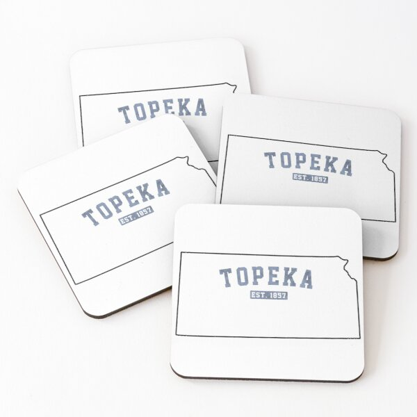 Topeka, Kansas Coasters (Set of 4)