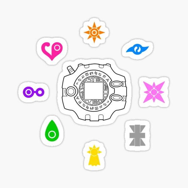 Digimon emblems Pegatina