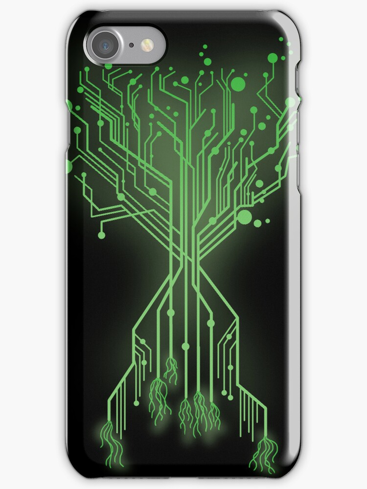 CircuiTree iPhone Case by fishbiscuit