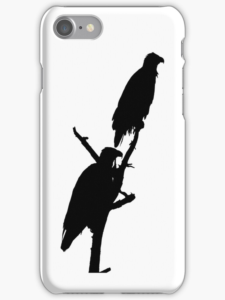 perched eagle pair i phone by dedmanshootn