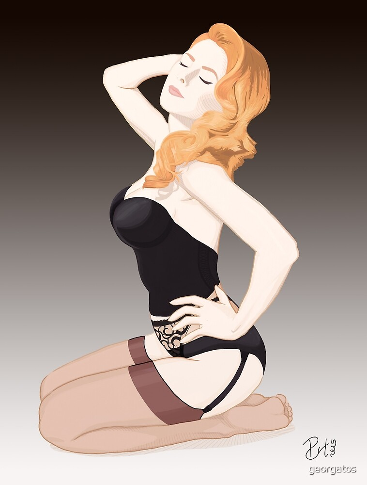 Vintage Pin up Girl - Sexy Lingerie by georgatos
