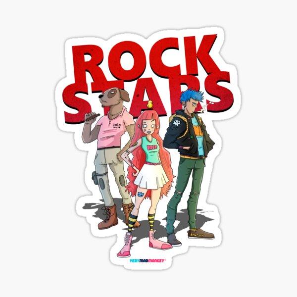 Rock Stars by Fran Ferriz Pegatina