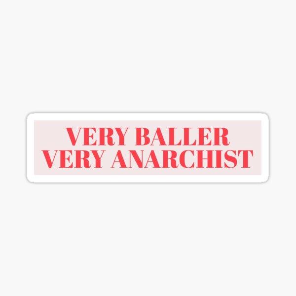 very baller very anarchist ladybird Sticker
