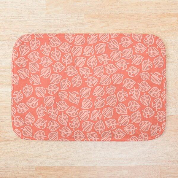 Isabelle Leaf Pink Bath Mat