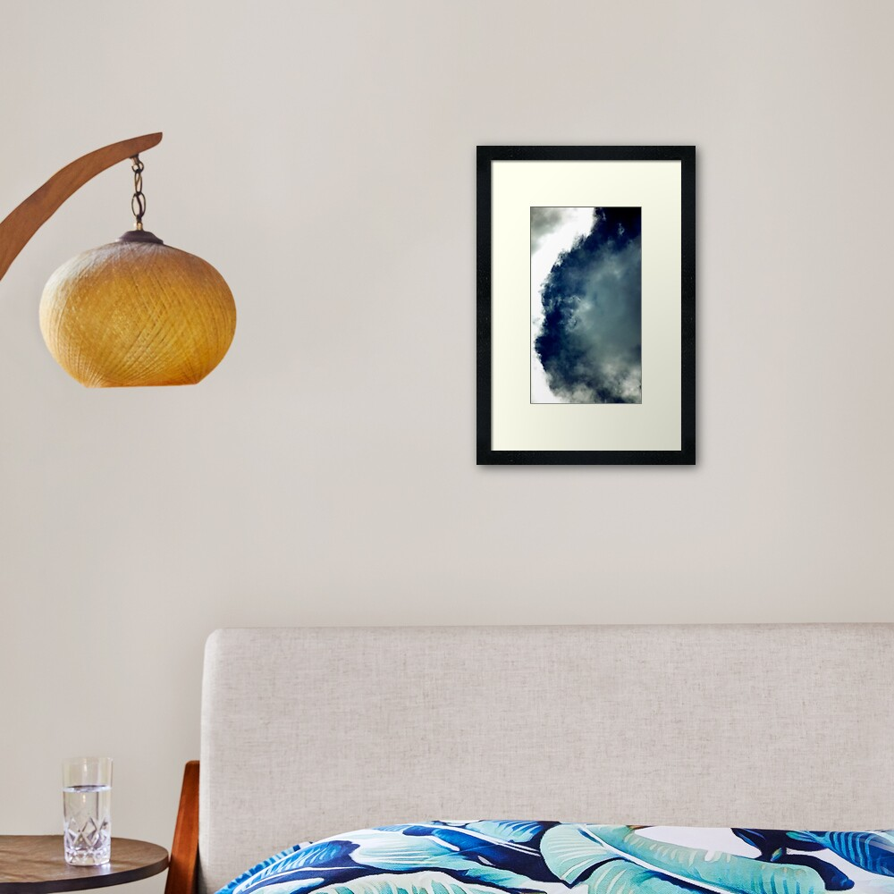 Cat Cloud Formation! Framed Art Print