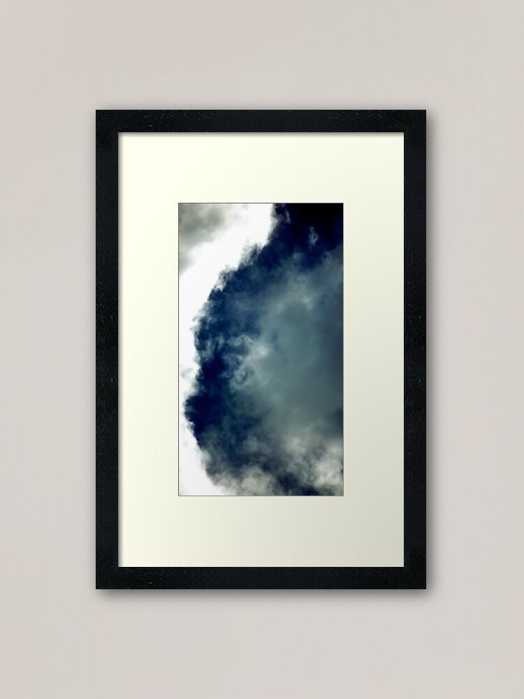 Alternate view of Cat Cloud Formation! Framed Art Print