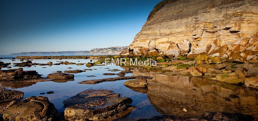 Reflections Bar Beach Cliff by RGA Photography