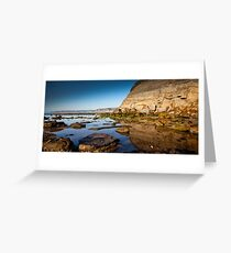 Reflections Bar Beach Cliff Greeting Card