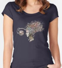 Observing the observer - nature inspired T-shirt Women's Fitted Scoop T-Shirt