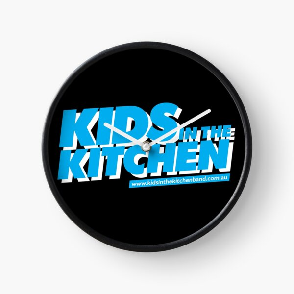 Kids in the Kitchen logo - blue Clock