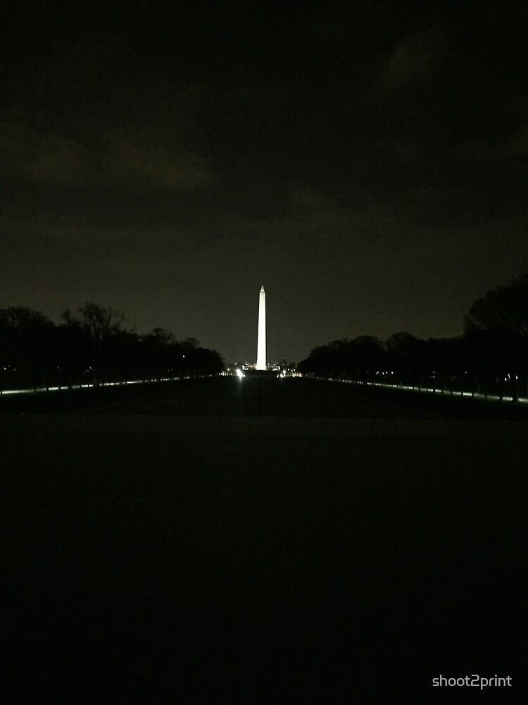 Washington Monument at Night by shoot2print