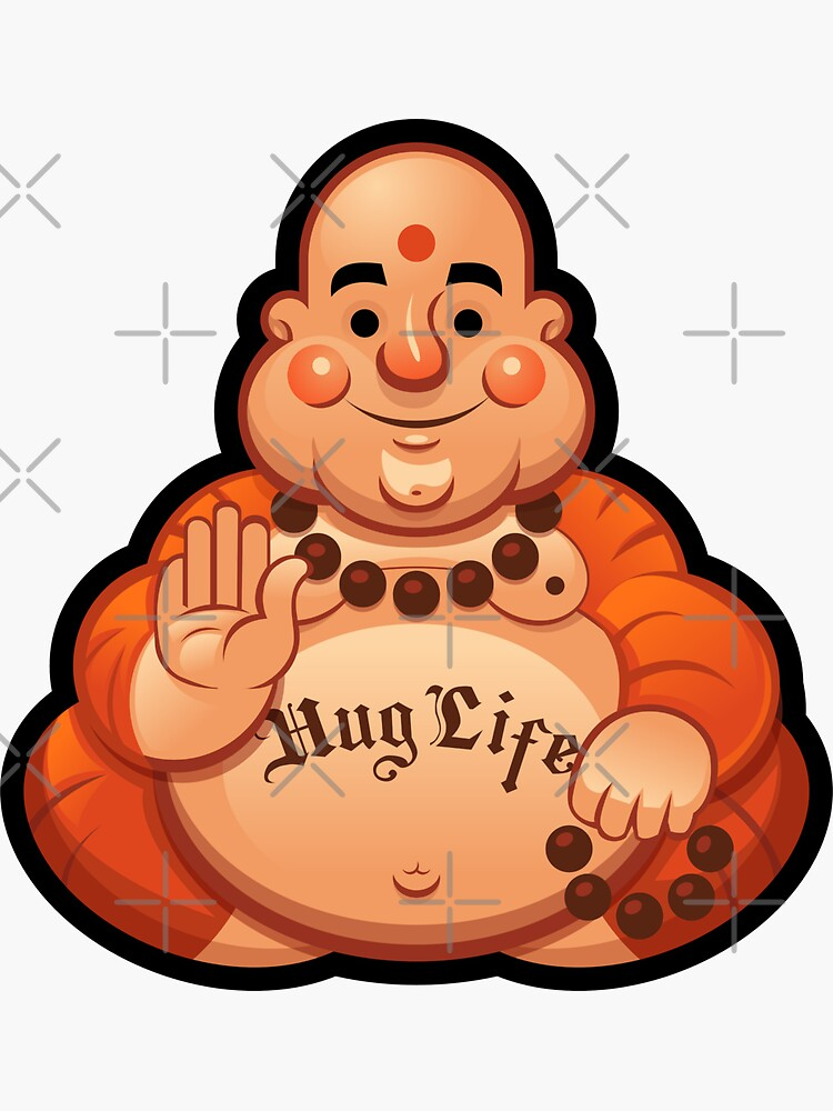 Hug Life Buddha by wardellb