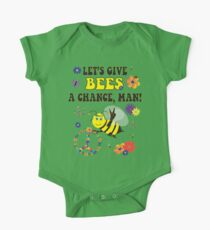 Let's Give Bees A Chance, Man One Piece - Short Sleeve