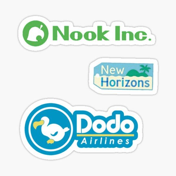 paquete de logotipos de animales cruzando nuevos horizontes Pegatina