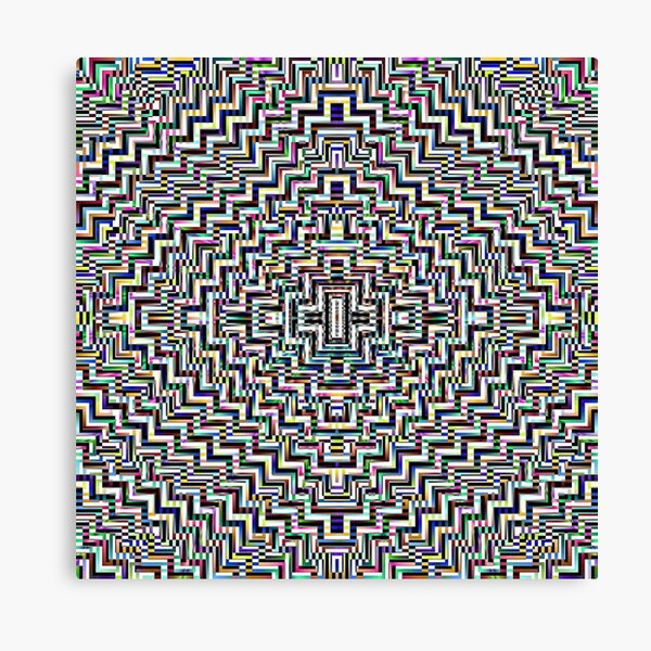 Psychedelic Hypnotic Visual Illusion Canvas Print