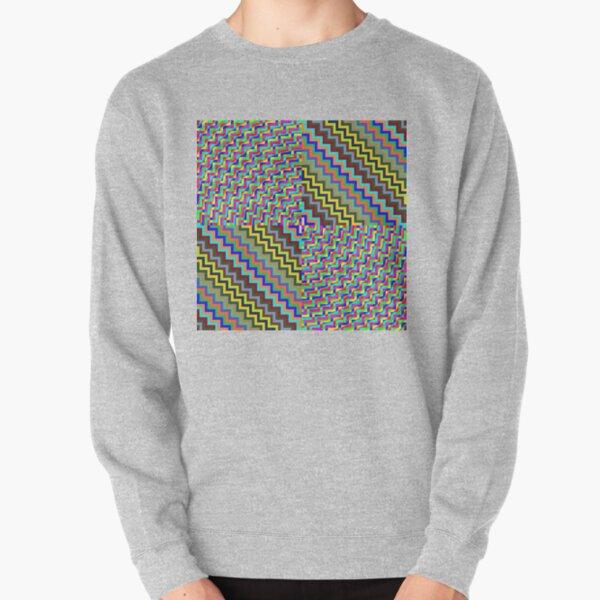 Psychedelic Hypnotic Visual Illusion Pullover Sweatshirt