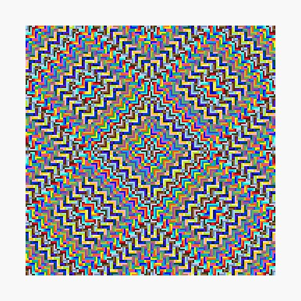 Psychedelic Hypnotic Visual Illusion Photographic Print
